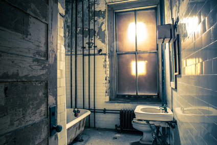 Bathroom in abandoned building